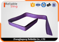 Violet / Purple Polyester Endless Webbing Sling Safety Factor 6 Belt Type 1 Ton