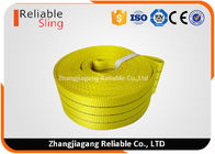 Chine Bande tissée plate jaune de sangle de 3 tonnes, sangle de levage antiusure de 75mm usine