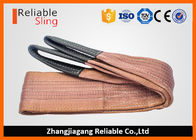 6000 KG Polyester Webbing Lifting Slings Safety Factor 7-1 With Reinforced Loop Ends