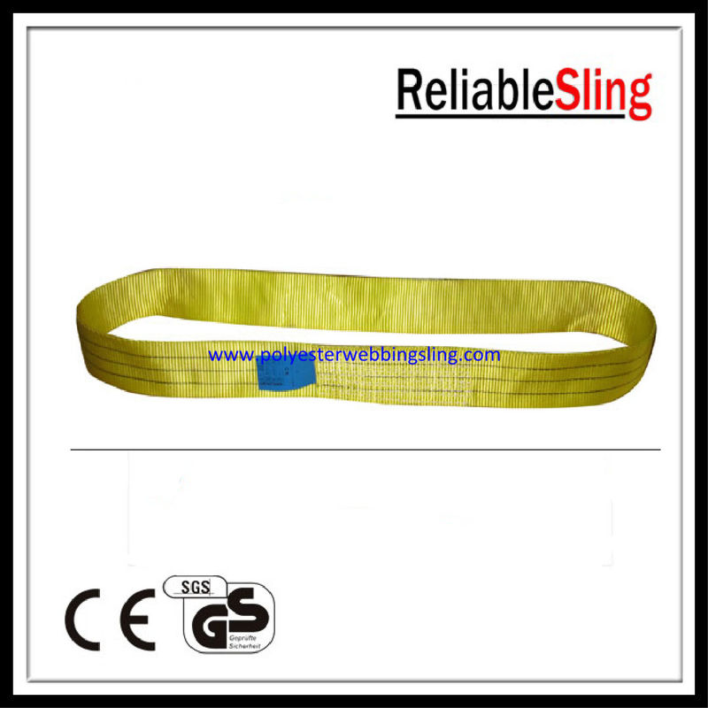 One Way Round Polyester Endless Lifting Webbing Sling with Single / Multi - plies