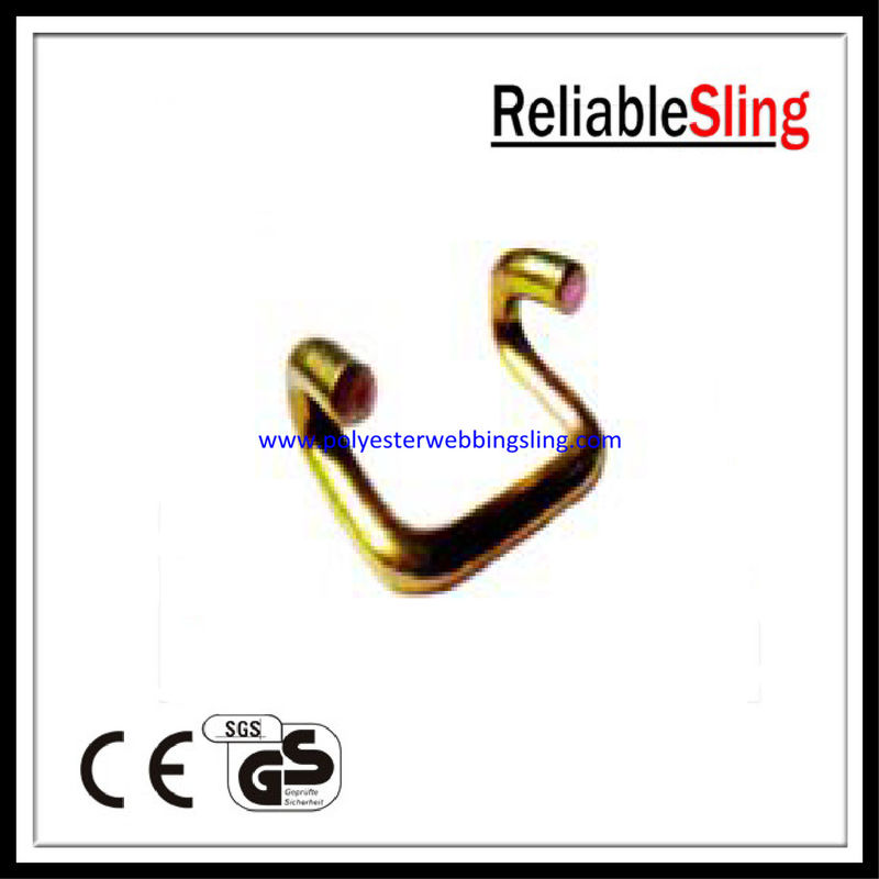 CE GS Approved Open U Ratchet Strap Hooks , Ratchet tie down strap hooks