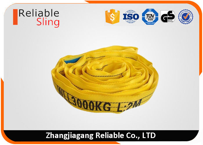 3 ton Yellow Endless Type Polyester Color Code Round Lifting Sling Belt