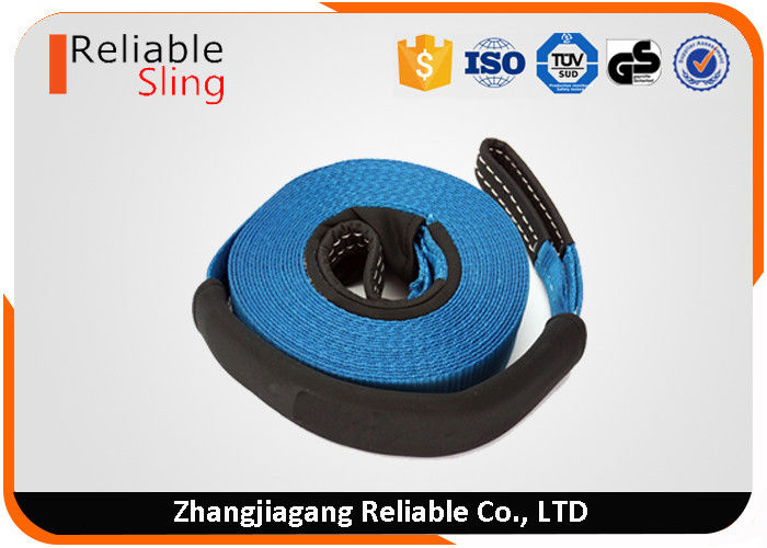 Width 75mm 10 Ton Auto Car Exterior Accessory Car Tow Strap With Eye Loops