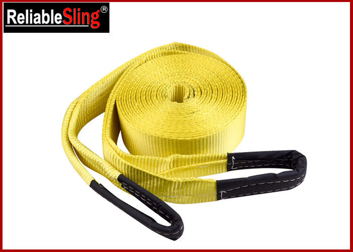 Orange Heavy Duty Lashing Straps Flat Belt With Loop Ends With Break Strength 15,000 Lbs