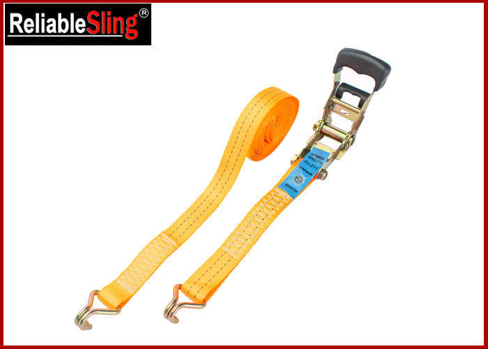 Breaking Strength 50mm 5T Heavy Duty Ratchet Tie Down Strap With One PVC blue label