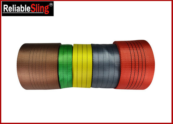Flexible se fanent la sangle plate de ceinture de couleur de bande de sangle de preuve de sangle multi de polyester